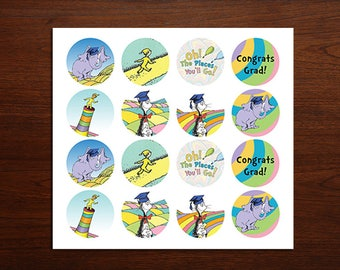 Oh the places You'll go cupcake toppers