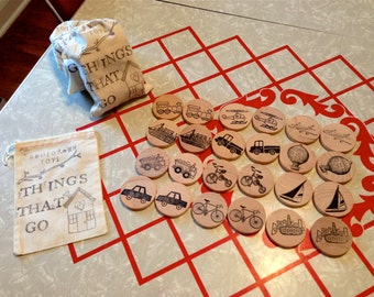 Waldorf- Match Up- Things-That-Go - Wooden Memory Game
