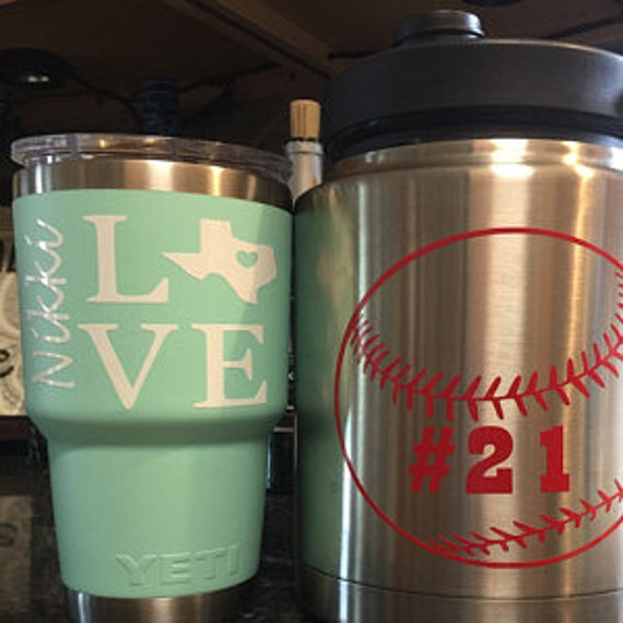 Baseball,  Mom Yeti Decal, Baseball decor, baseball mom, softball mom, sports wall decal, Baseball Mom Yeti