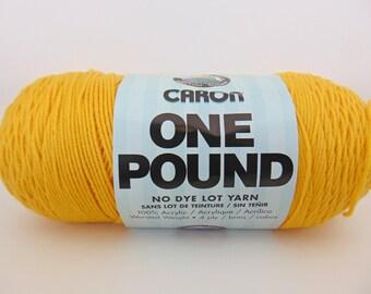 Sunflower- Caron One Pound Yarn worsted weight - 1038