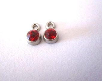 set of 2 rhinestone pendants