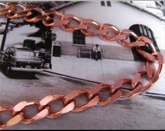 Solid Copper Chain Necklace CN711G - 5/16 of an inch wide. Available in 18 to 30 inches.