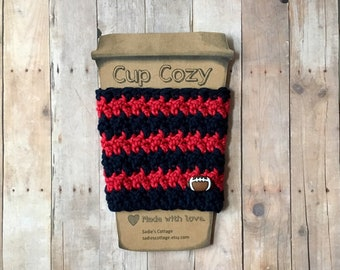 Houston Texans, Coffee Sleeve, Cup Cozy, Cup Holder, Coffee Cup Cozy, Cup Sleeve, Coffee Cozy, Coffee Cup Sleeve, Reusable Coffee Sleeve