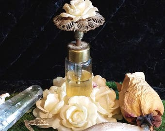 Custom YELLOW ROSE Crystal POTION Fairy OOaK, Made for You, Magic, Pagan, Wicca, Flower
