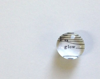 glow - lyric from vintage sheet music - magnet