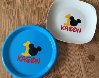 Keepsake Ceramic Plate with Vinyl Image for guests to sign
