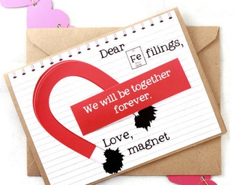 Funny Science Valentine's Day Card boyfriend girlfriend wife husband - Forever Love Magnet