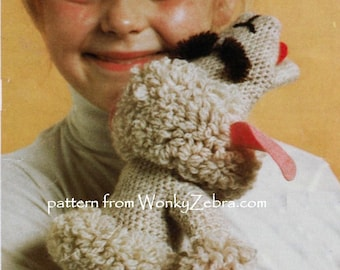 Vintage Shari Lewis Lamb Chop Knit and Crochet Pattern PDF 550 from WonkyZebra