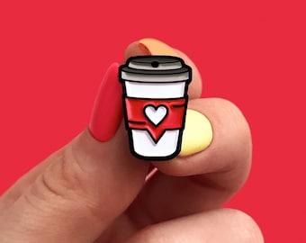 Like Coffee White, enamel pin