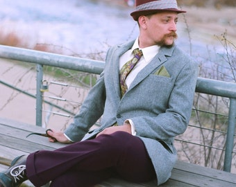 1940s Style Flannel Sport Coats---Custom Made