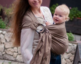 Linen Ring Sling, Baby Sling, Baby Sling Carrier, Printed Baby Sling, Baby shower gift, Toddler, Infant, Baby carrier, Pure Linen Ring Sling