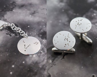 Key chain and Cuff link set: A set of constellation key chain and cuff links.