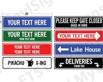 Custom Metal Sign: Metal Street Sign - Custom Street Sign