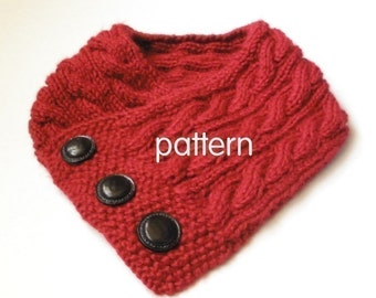 Cabled Neck Warmer Knitting Pattern PDF -- Permission granted to sell the ones you make -- Over 10,000 patterns sold, 100% positive feedback