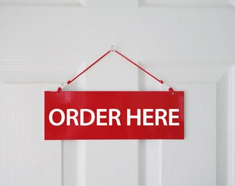1 set Order here/Pickup here Sign