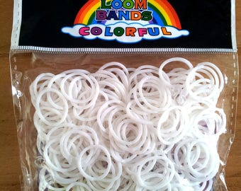 260 elastic white - 10 - 1 hook - 1 stand loom clasps