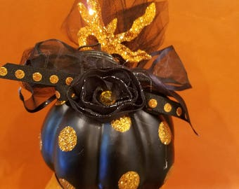 Black Pumpkin Decoration