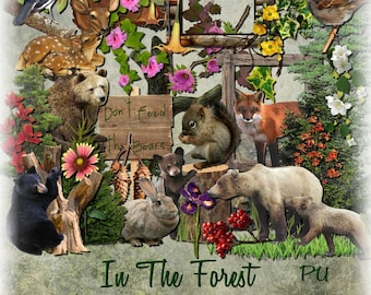 In The Forest Digital Scrapbooking Kit