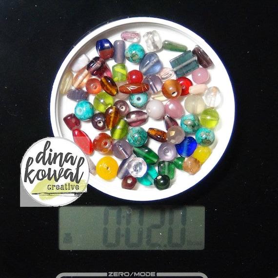 Destash - 2 oz. quality glass bead mix - rainbow