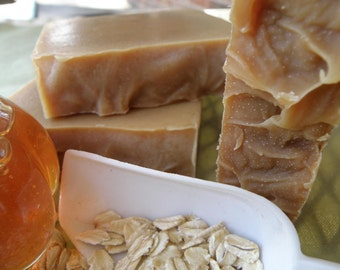 Oatmeal, Milk and Honey - Natural Herbal Soap - Essential Oil Soap - Goat Milk Soap