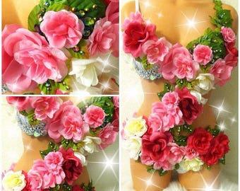 Enchanted Rose Garden Forest Fairy Costume • Fairy costume • Fairy monokini (READY TO SHIP!)