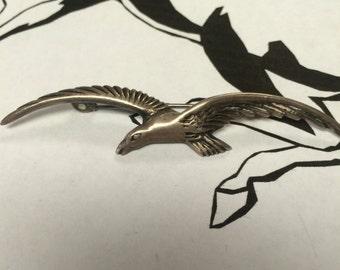 Mexican silver bird pin brooch