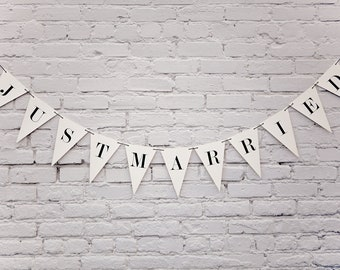 Just Married Banner: Triangle