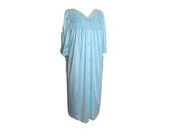Robe Nightgown Sleepwear Set Pastel Blue Size Large Deadstock