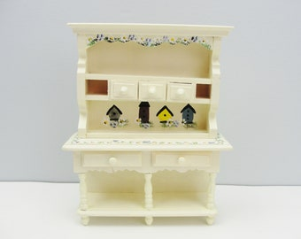Vintage miniature furniture 2 part china cupboard