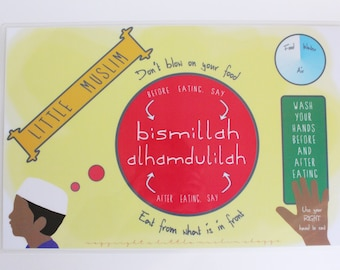 Little Muslim - Islamic Activity Placemat - Boys