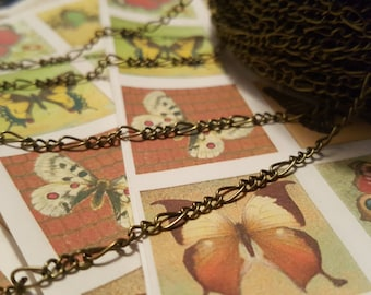 Figaro Chain - 1 yard - Chain - Bronze Figaro Chain - Mother Son Chain - Small Bronze Chain - Small Figaro Chain