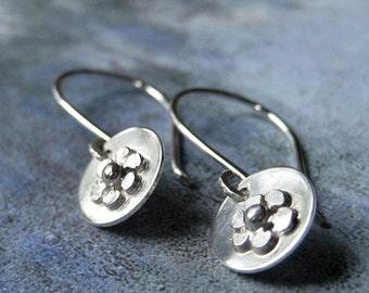Dainty Daisy Sterling Silver Earrings