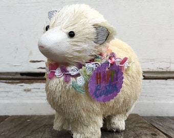 Décor de Pâques AGD - Sisal Adorable mouton agneau Joyeuses Pâques