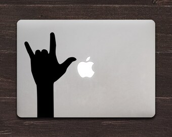 I Love You Sticker Sign Language ILY Hand Sign Vinyl MacBook Decal BAS-0252