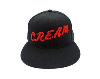 Wu-Tang Cream Snapback, Wu-Tang, Cream, Headwear, Hat, Flat Bill, Snapback, Hip Hop, Rap, Fashion, Gifts