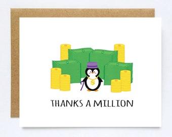 Fun cards, Penguin Pun Thanks Card Pun Thank You Card Punny Thanks Greeting Card Friendship Card Funny Thank You Cards penguin pun card