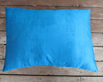 Pet Bed, 34 x 25 Duvet Cover, Turquoise Corduroy Canine Cloud Dog Bed Cover, Pet Furniture, Gift, Dog Bed