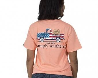 Simply Southern® PREPPYTRUCK-PEACHY