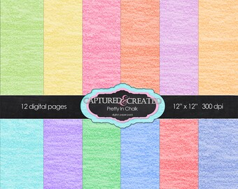 Pretty In Chalk 12 Paper Pack ****Instant Download****