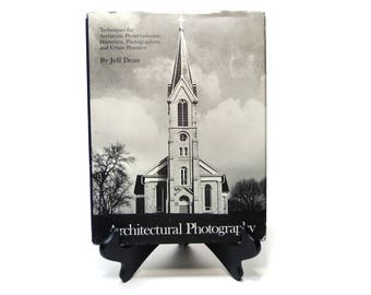 Architectural Photography vintage book, film, 35mm, perspective, arhitecture, educational, historic preservation, hardcover, diagrams