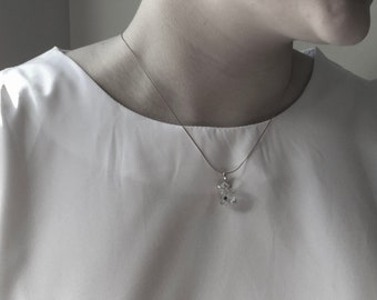 Herkimer Diamond Earrings. Sterling Silver