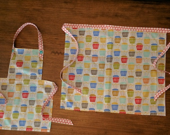 Mommy and Me Party Cupcake Apron Set