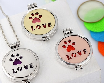 Essential Oil Diffuser Necklace. Calling all you cat and dog lovers out there. This necklace is for you!