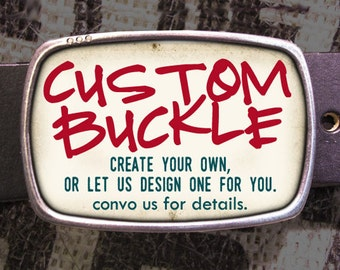 Custom Belt Buckle - Personalized Gift - Design Your Own Handmade Gift for Him, Customized Gift for Her, Gift for Husband, Gift for Wife