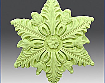 Silicone Soap n Floating Candle Mold  Snowflake 4 - free shipping