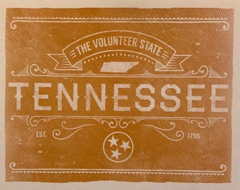 University of Tennessee Volunteers Small 8 x 10 Print
