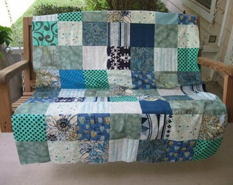 Blues and Greens - A Finish Yourself Quilt