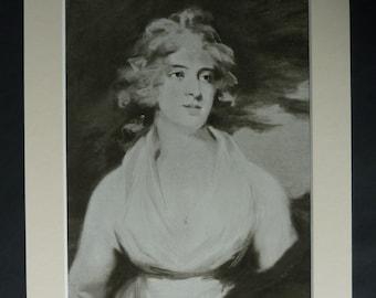 1915 Antique Portrait of Elizabeth Billington, Available Framed, Opera Art, Old Theater Print, Georgian Theatre Gift, John James Masquerier