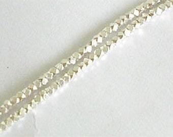 180 of Karen Hill Tribe Silver Facet Beads 1.6 mm. :kg0990