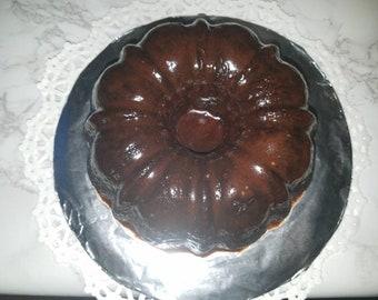 Chocolate Mini Bundt Cake with Chocolate Frosted Glaze